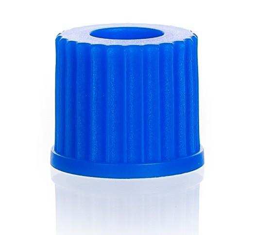 Крышка винтовая синяя, GL 18, с отверстием 11,5 мм