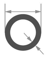 Трубка стеклянная Simax, диаметр 16 мм, толщина стенки 1,8 мм