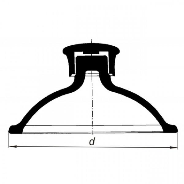 Крышка для эксикатора, 150 мм, с пластмассовой ручкой
