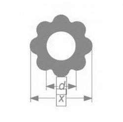 Профильная трубка Simax, восьмилепестковая, диаметр наружн. 19 мм, внутр. 8,5 мм