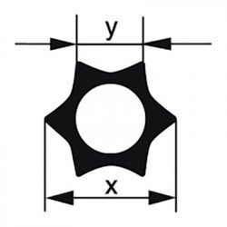 Профильная трубка Simax «Звезда», 6 лучей, диаметр наружн. 24 мм, внутр. 10,4 мм