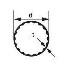 Стеклянная трубка Simax, внутренний профиль, диаметр 34 мм