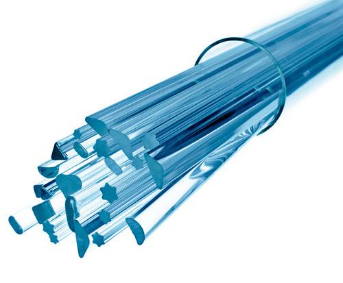 Стеклянная палочка полукруглого сечения Simax, диаметр 12 мм