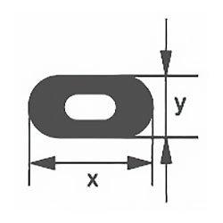 Капиллярная профильная трубка Simax, 21х5,5 мм, внутренний диаметр 1,5 мм
